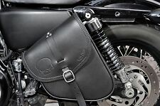 LEATHER SADDLE BAG FOR HARLEY DAVIDSON SPORTSTER XL 1200  MADE IN ITALY