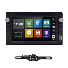 "Double Din 6.2"" Deck Stereo Car DVD Player Bluetooth Radio iPod SD/USB TV+Camera"