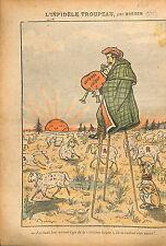Caricature Politique Breger Aristide Briand Electeurs Moutons 1913 ILLUSTRATION