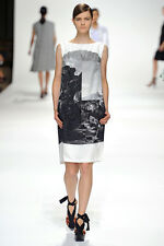 Dries van Noten Multicolor Spring 2012 Landscape Print Sheath Dress 38 NWT $1330