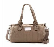 NEW Marc by Marc Jacobs Pretty Quilted Nylon Max Shopper Quartz Gray/Taupe $178