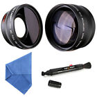 58MM 0.45x HD Lens kits Multi-coated Wide Angle Macro Telephoto Zoom 2.2x Sale
