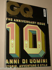 ANNIVERSARY ISSUE MAGAZINE GQ 2009=EVA DOLL=PAUL GASCOIGNE=CLAUDIA PANDOLFI=