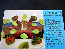 SEND HEALING Grid Layout Card Healing Crystals 4x5inch Cardstock Health Support