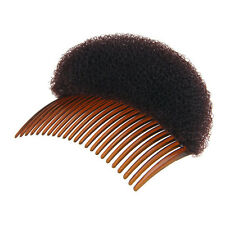 Women Small Hair Foam Bun Bump Comb Hair Styler Shaper In Black/Coffee and Beige