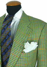 Hugo Boss Mens Blazer 40R Wool Sport Coat Houndstooth Jacket Gingham Gr. 50
