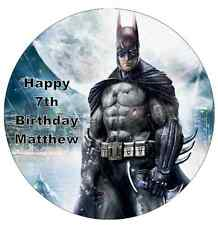 "Batman Personalised Cake Topper 7.5"" Edible Wafer Paper Birthday"