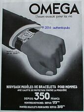 PUBLICITE OMEGA MONTRE BRACELET OR HOMME CALOTTE PROTECTION DE 1935 FRENCH AD