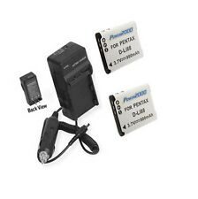 TWO 2X Batteries + Charger for Sanyo VPC-CG20 VPC-CG21 VPC-CG22 VPC-CS1 VPC-GH1