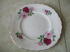 Royal vale Bone China Pink & red roses cake Plate 9""