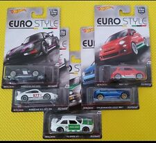 2016 Hot Wheels Car Culture Series Euro-Style Full Set of 5 Porsche VW Fiat BMW