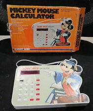 1970s Vintage Mickey Mouse Calculator Model 4610 by Concept 2000 in Box