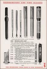 THERMOMETERS & Cases, Time Glasses, Medical, vintage catalog page 1935