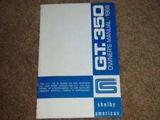 1966 Mustang Shelby G.T 350 Factory Owners Manual Exceptional Condition