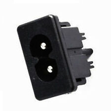 5Pcs AC 250V 2.5A IEC320 C8 Male 2 Pins Power Inlet Socket Panel Embedded TMPG