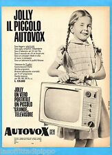 QUATTROR965-PUBBLICITA'/ADVERTISING-1965- AUTOVOX TV JOLLY PORTATILE