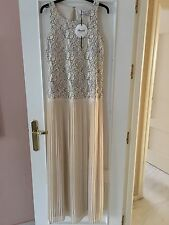 BLUMARINE BLUGIRL Maxi a Pieghe Con Top In Pizzo swarovsky cristalli dress IT 44 UK 12