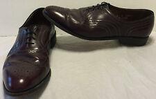 Allen Edmonds Burgundy Full Brogue Townley Wingtip Shoes Size 12 B USA Made