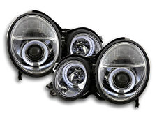 Mercedes Benz E Class W210 S210 1997-2001 Chrome Angel Eyes Headlights Pair RHD
