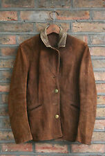 VTG 30s AMERICAN DEERSKIN LEATHER HALF BELT MILITARY MOTORCYCLE JACKET COAT 8/10