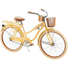 "Huffy Bike Cruiser Bicycle 26"" Women  Vintage front Basket New"