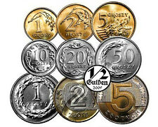POLAND FULL SET OF 9 COINS ZLOTY 2015 UNCIRCULATED COINS