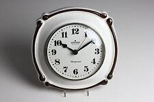 Junghans Quartz Küchenuhr Uhr Wanduhr Keramik 60/70 er Jahre Vintage Handgemalt