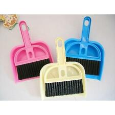 Hot Small Brooms Whisk Dust Pan Table Keyboard Notebook Dustpan + Brush 1 Set