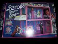 Barbie Glamour Home 1984 Doll House vintage Mattel in box INCOMPLETE