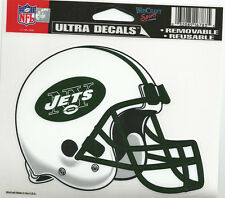 """NEW YORK JETS NFL LICENSED 5""""X6"""" ULTRA CLING DECAL MADE IN THE USA"""