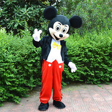 Halloween New Adult Mickey Mouse Mascot Costume Fancy Party Dress free shipping