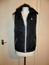 NEW WORKOUT LIGHTWEIGHT GILET JACKET WITH REFLECTIVE STRIPES SIZE UK 10 EU 38