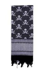 Plo Halstuch Schal Skulls Shemagh Tactical Desert Camo Scarf We/SW White / Black