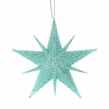 10cm Christmas Party Shade Blue Star Starburst Hanging Tree Ornament Decoration
