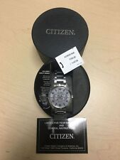 New Mens Citizen Eco-Drive Stainless Steel Multifunction Watch! AO9020-84A! #610