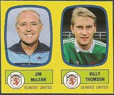 PANINI FOOTBALL 88-#495-A-B-DUNDEE UNITED-JIM McLEAN / BILLY THOMSON