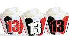 13 13th Birthday Party Thirteen Wraps Cupcake Cases Cake Wrappers Cup Cake