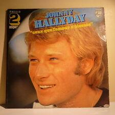 "2 x 33T Johnny HALLYDAY Disques LP 12"" CEUX QUE L'AMOUR BLESSES -PHILIPS 6680291"