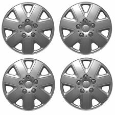 "Hurricane 14"" Car Wheel Trims Hub Caps Plastic Covers Silver Universal (4Pcs)"