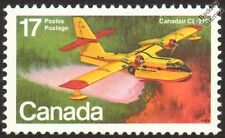 CANADAIR CL-215 Scooper Firefighting Flying Boat Seaplane Aircraft Canada Stamp