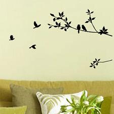 BRICOLAJE Extraíble árbol Pájaro Arte Vinilo Adhesivo Con Cita Adhesivo Mural