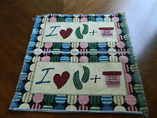 2 I Love Pickles & Ice Cream Pregnant Woman Mother Tapestry Fabric pillow Panels