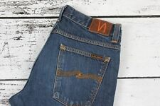 Nudie Jeans Straight Alf Dry Dirt Organic Men Jeans Size 33/32, Genuine