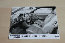 SV0735) Rover 220 Coupe Turbo Pressefoto 10/1992