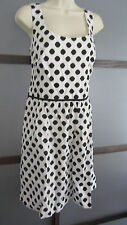 Lauren Ralph Lauren Dress Black White Polka Dot Cotton Shift Dress 14 Sleeveless