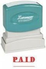 Xstamper 1221 Title Message Stamp, PAID, Pre-Inked/Re-Inkable, Red