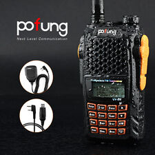 Pofung UV-6R 2-way Radio Ham FM Transceiver US Plug Dual Display Dual Standby