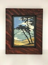Motawi Montana de Oro Art Tile Family Woodworks Oak Park Arts & Crafts Frame
