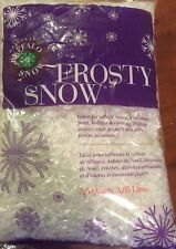 Buffalo Snow Frosty Flakes Bag Christmas Village Craft Artificial Fake 3.5 Quart