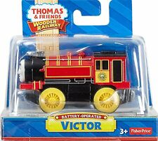 VICTOR - MOTORIZED BATTERY POWERED Thomas Tank Wooden Railway NEW IN BOX